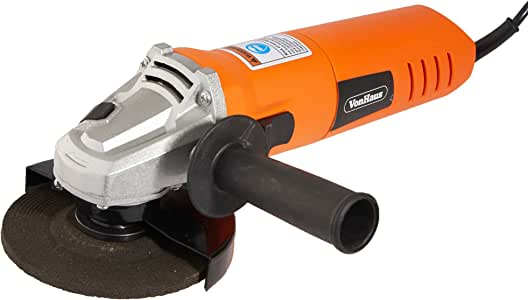 VonHaus 6 Amp 4-1/2 inch Angle Grinder - Corded Multi Purpose Grinding Tool with 1 x Blade Included