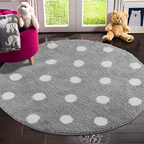 LIVEBOX Polka Dots Round Area Rug