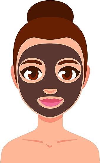 Amazon Com Beauty Facial Mask Spa Day Skincare Korean Beauty Cartoon Vinyl Sticker 4 Tall Charcoal Automotive