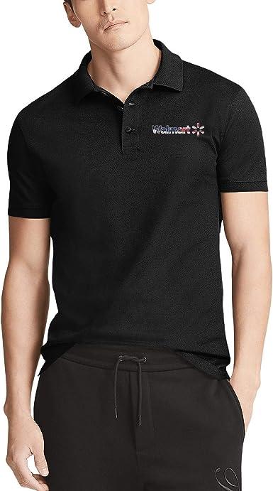 Amazon.com: Mens Black Short Sleeves Collared Polo T-Shirts Bud ...