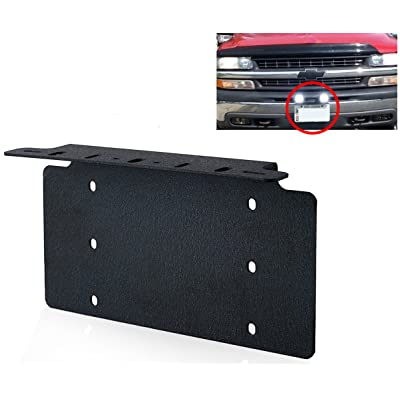 """TOPNEW Universal License Plate Mounting Bracket Steel for 6"""" 7"""" 12"""" 17"""" 20"""" Led Light Bar Spot Lights for SUV Car 4x4 Jeep: Automotive"""