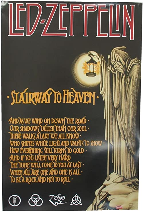Led Zeppelin 24x36 inch rolled wall poster