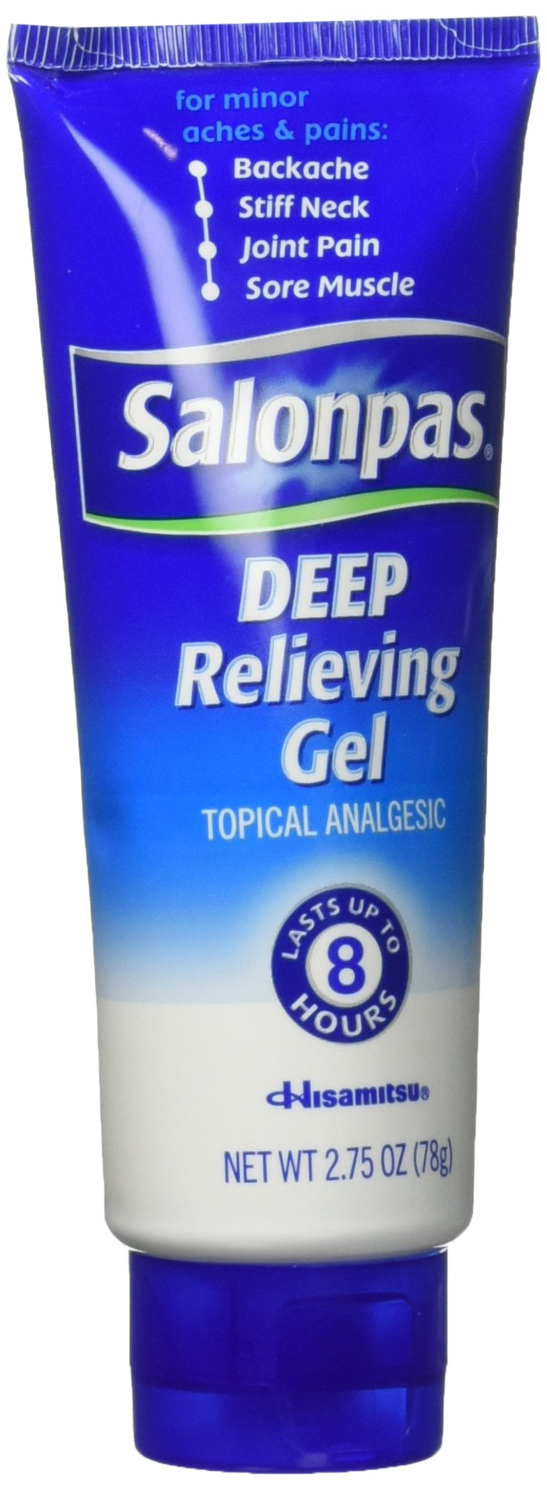 Salonpas Deep Pain Relieving Gel, 2.75 Oz (Pack of 2)