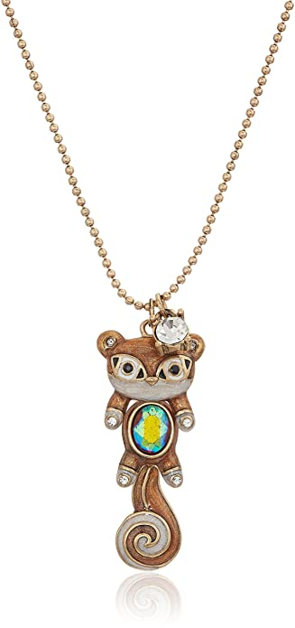 Amazon betsey johnson mini critters brown squirrel pendant amazon betsey johnson mini critters brown squirrel pendant necklace jewelry aloadofball Image collections