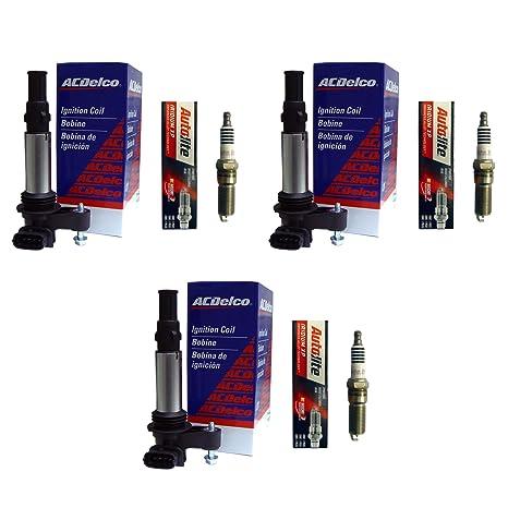 (3) ACDelco México bs-c1508 bobinas de encendido + (3) Autolite