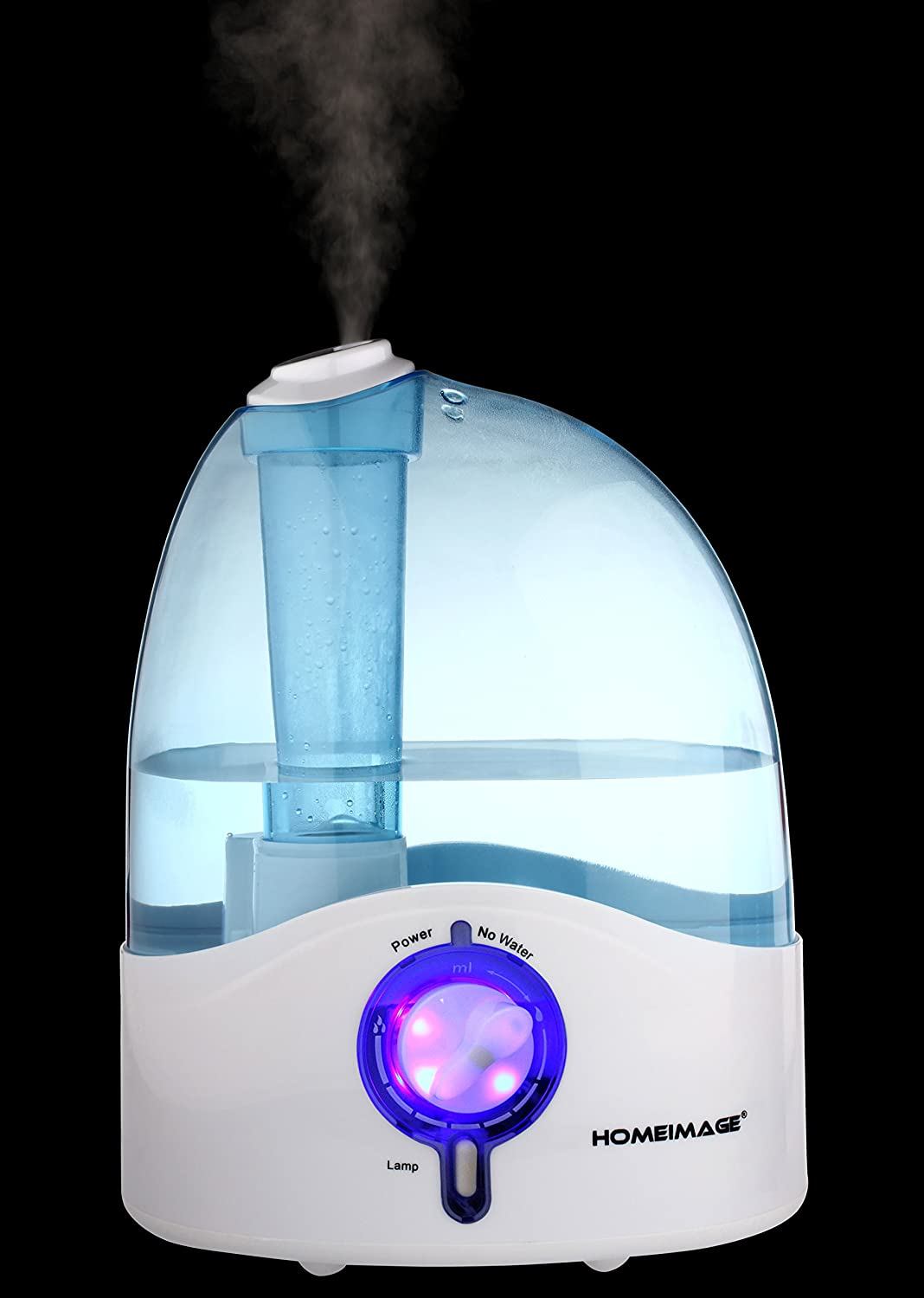 Blue 1.19 gallons or 4.5 liters Large Tank Capacity Cool Mist Humidifier HI-HYB12BLU HI-HYB12BLUM HOMEIMAGE 1.58 Gallons per day Output