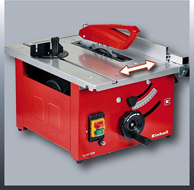 Einhell TC-TS 1200 Sierra de mesa - Máquinas de coser fijas (4800 RPM, 2,7 cm, 4,5 cm, 93,7 dB, 106,7 dB, 3 dB ...