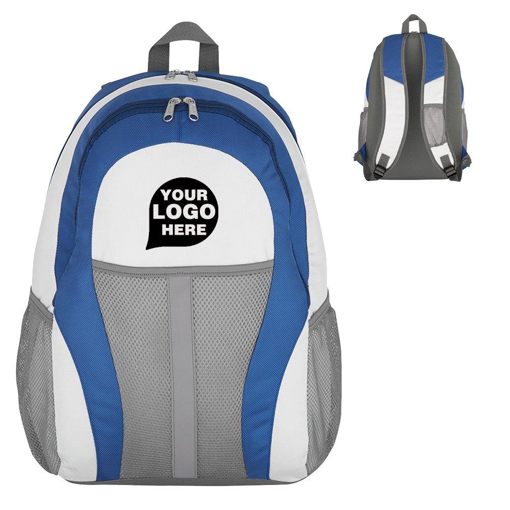closeoutpromoバランスバックパック – 20数量 – $ 14.15各 – プロモーション製品/バルク/ブランドロゴ/でカスタマイズされた  ホワイト/ブルー B07DQVCR2L