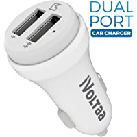 iVoltaa 2.4A Dual Port Car Charger - White