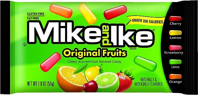 Mike and Ike Original Candy,1.8-Ounce Bags (Pack of 24): Amazon.es: Alimentación y bebidas