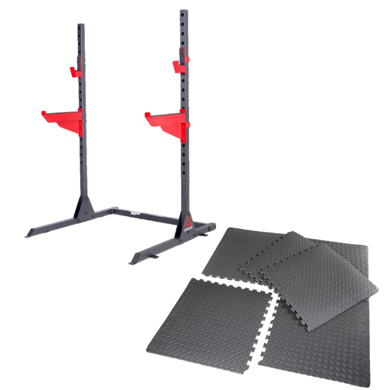 Reebok Squat Rack and Puzzle Mat Set
