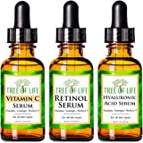 Flawless. Younger. Perfect. Anti Aging Serum Combo Pack - Vitamin C Serum - Retinol Serum - Hyaluronic Acid Serum - Anti Wrinkle Complete Regimen - Highly Natural And Organic Serums