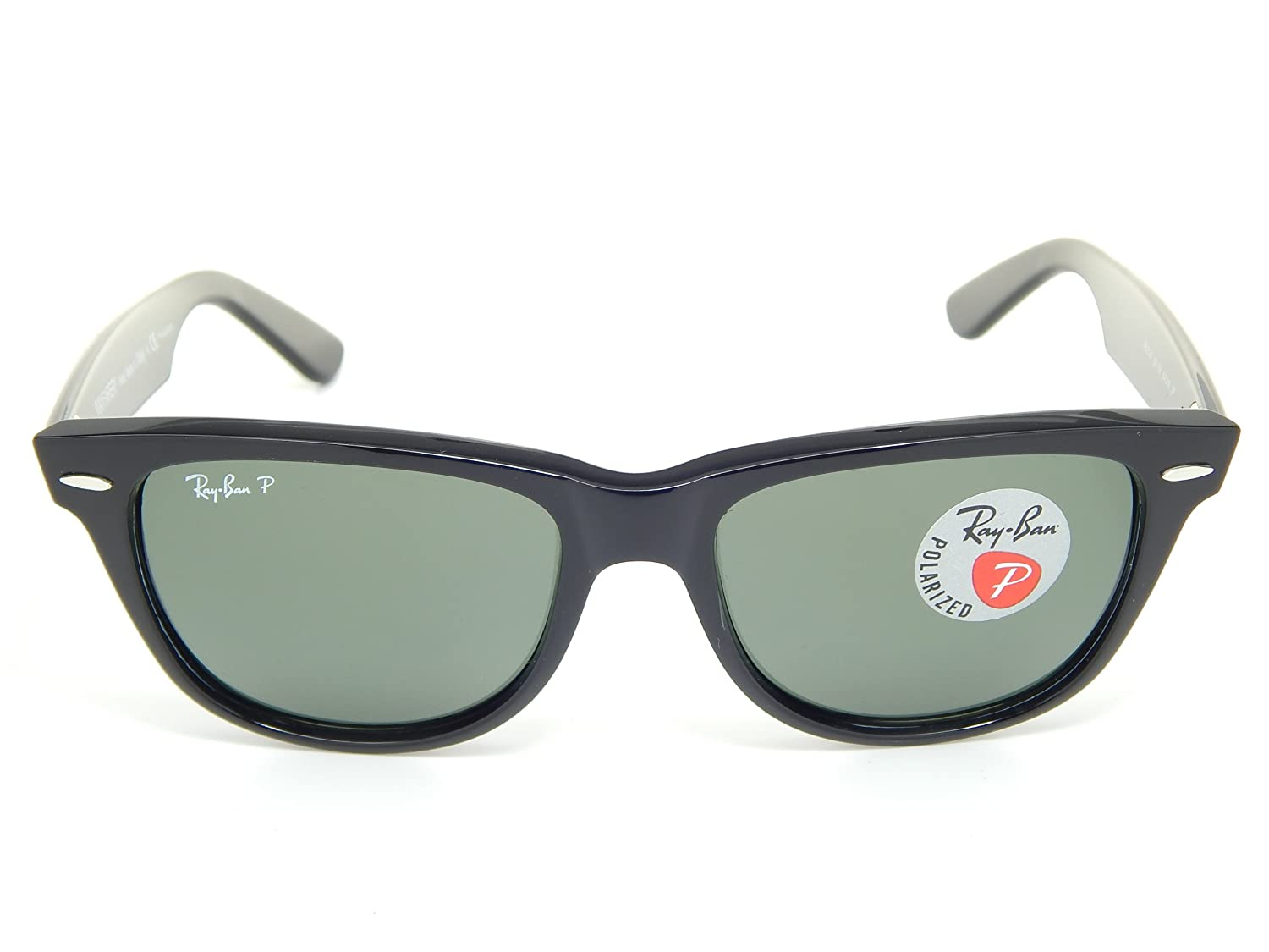 cd421f2f5156c Amazon.com  Ray Ban Wayfarer Polarized RB2140 901 58 Black G-15 XLT  Polarized 54mm Sunglasses  Shoes