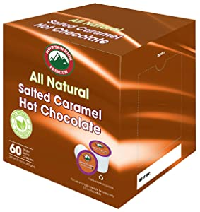 Mountain High All Natural Hot Chocolate K Cups 2.0 Compatible (Salted Caramel, 60)