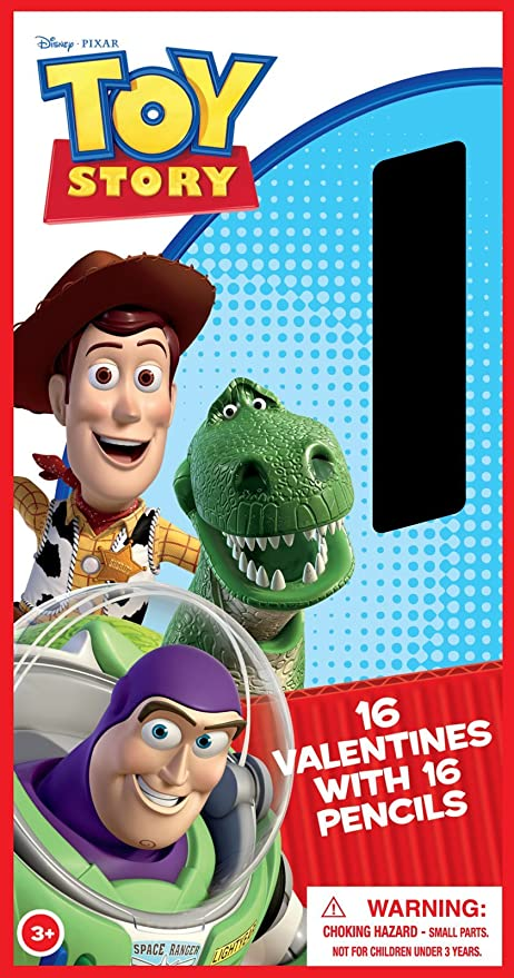 Amazon Com Toy Story Valentine S Day Cards And Pencils Party
