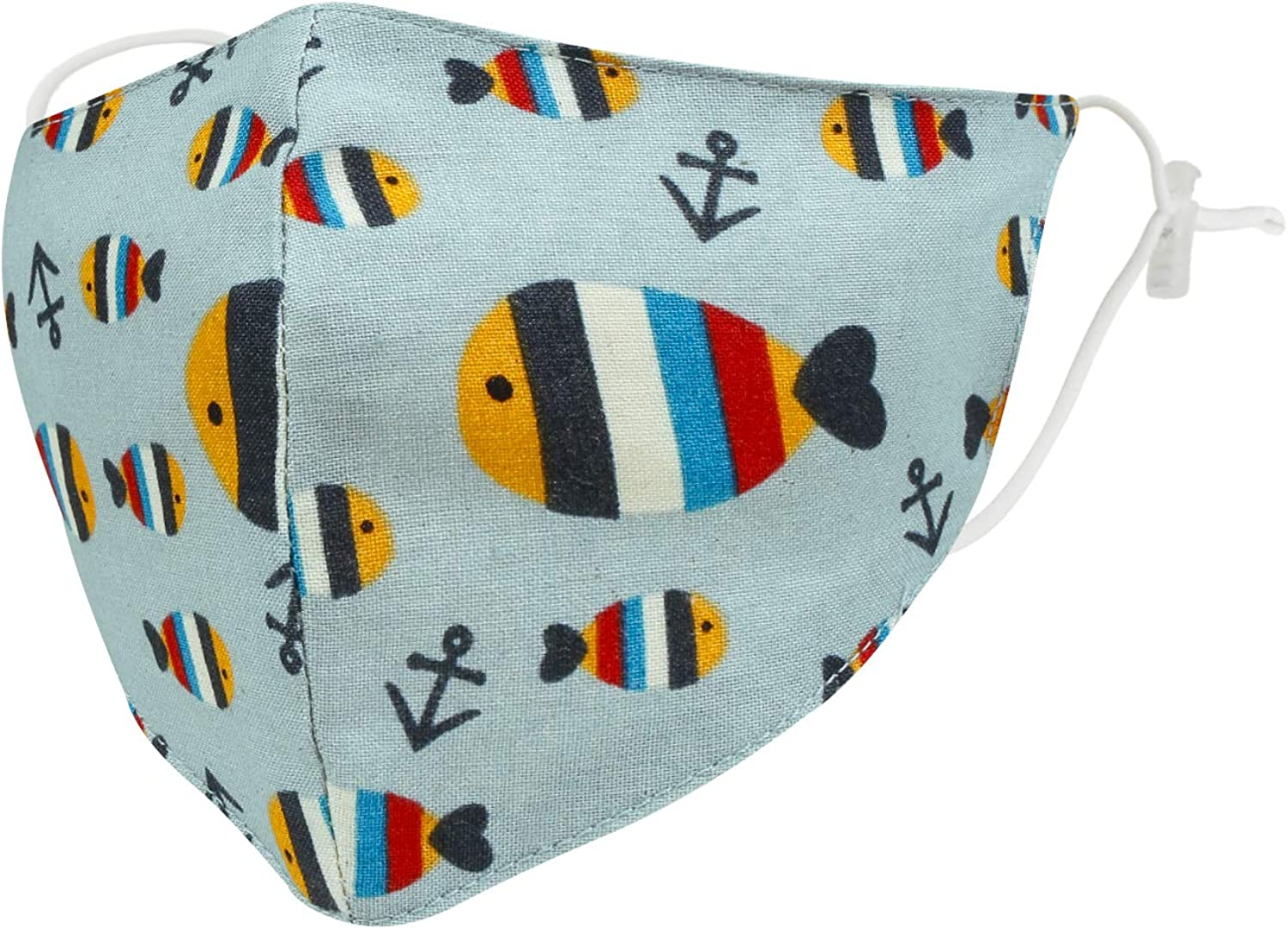 ililily Cotton Washable Kids Face Cover Patterned Face Shield W//Filter Pocket