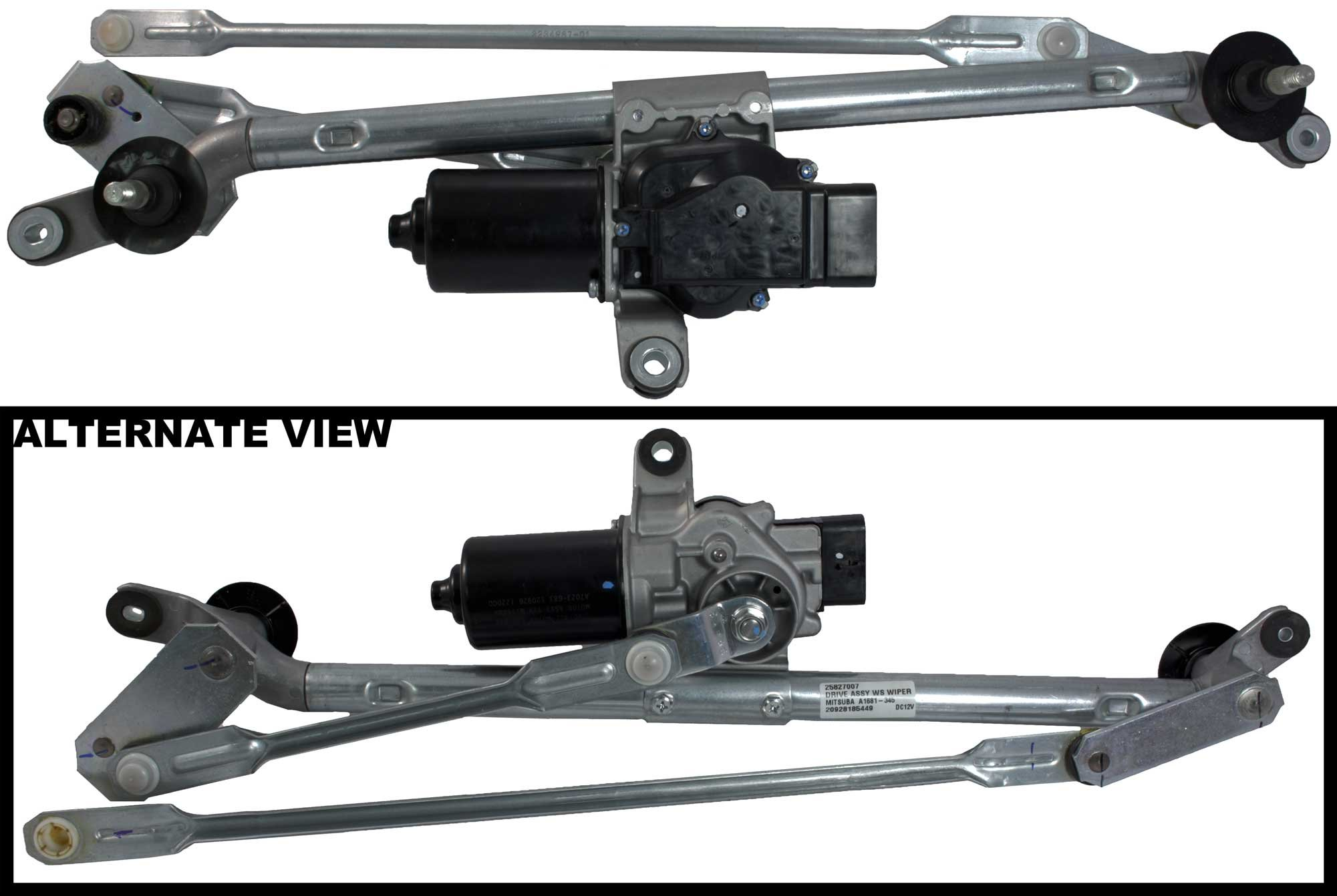 APDTY 22711011 & 22711010 Windshield Wiper Transmission Linkage & Motor Assembly For 2008-2012 Chevy Malibu / 2005-2010 Pontiac G6 / 2007-2009 Saturn Aura (Includes Wiper Intermittent Control) by APDTY