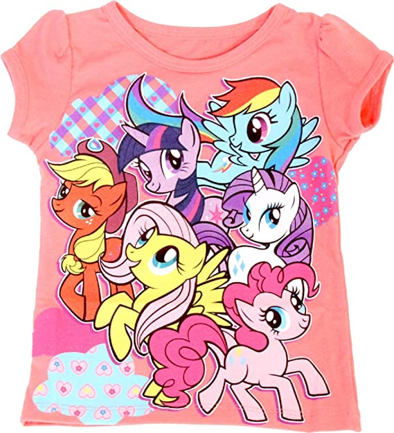 36a1fa5788ac My Little Pony Best Friends Patterns Coral Toddler T-Shirt (Toddler 2T)