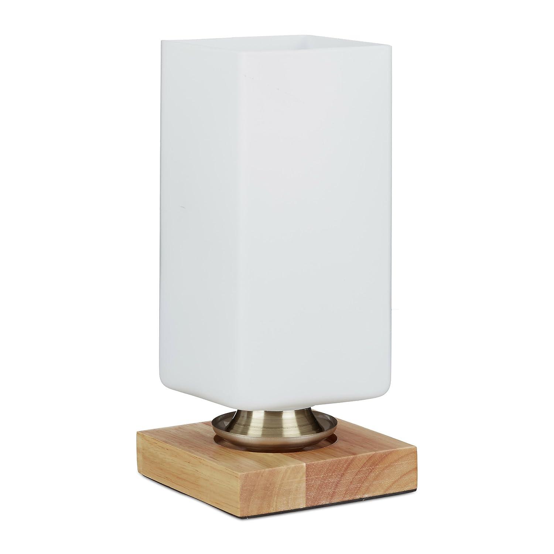 Sur Table D'ambiance De Rectangle Relaxdays Détails Opale Verre Chevet Lampe AL4jq3R5