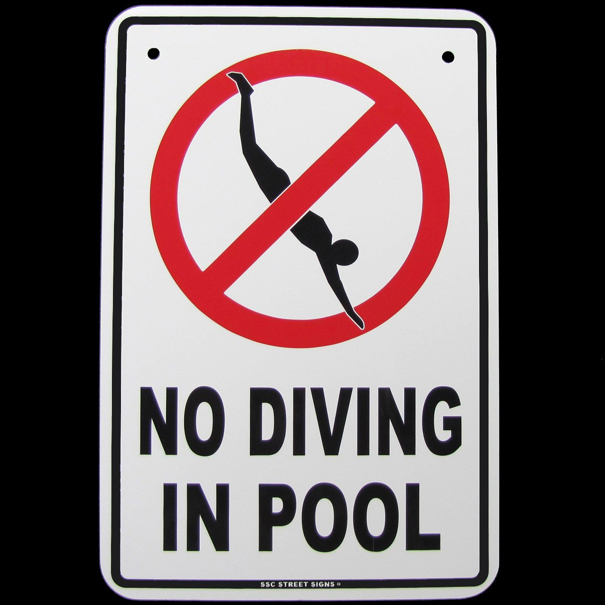 Danger No Diving Swimming Pool Hot Tub Tin Warning Sign