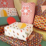 Bright Stem Gift Wrapping Paper Folded (6) Sheets and Tags Geometric Patterns Mixed Pack
