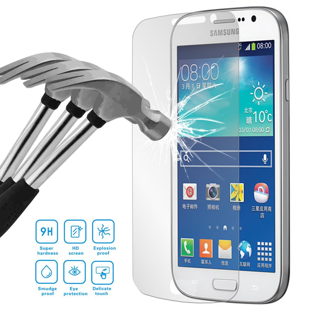 Yiizy Samsung Galaxy Grand Neo Plus I9060 Screen Tempered Glass Protector 9h Hardness Premium Hd High Definition Clear Toughened Ultra Thin
