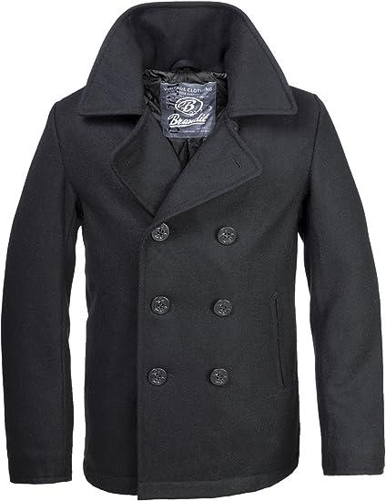 Brandit Pea Coat Manteau Caban Manches Longues Homme