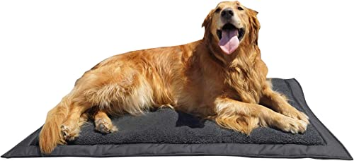 Lightspeed Outdoors Self Inflating Fleece Top Cover Travel Dog Bed Kennel Bed ,32-Inch by 42 Inch