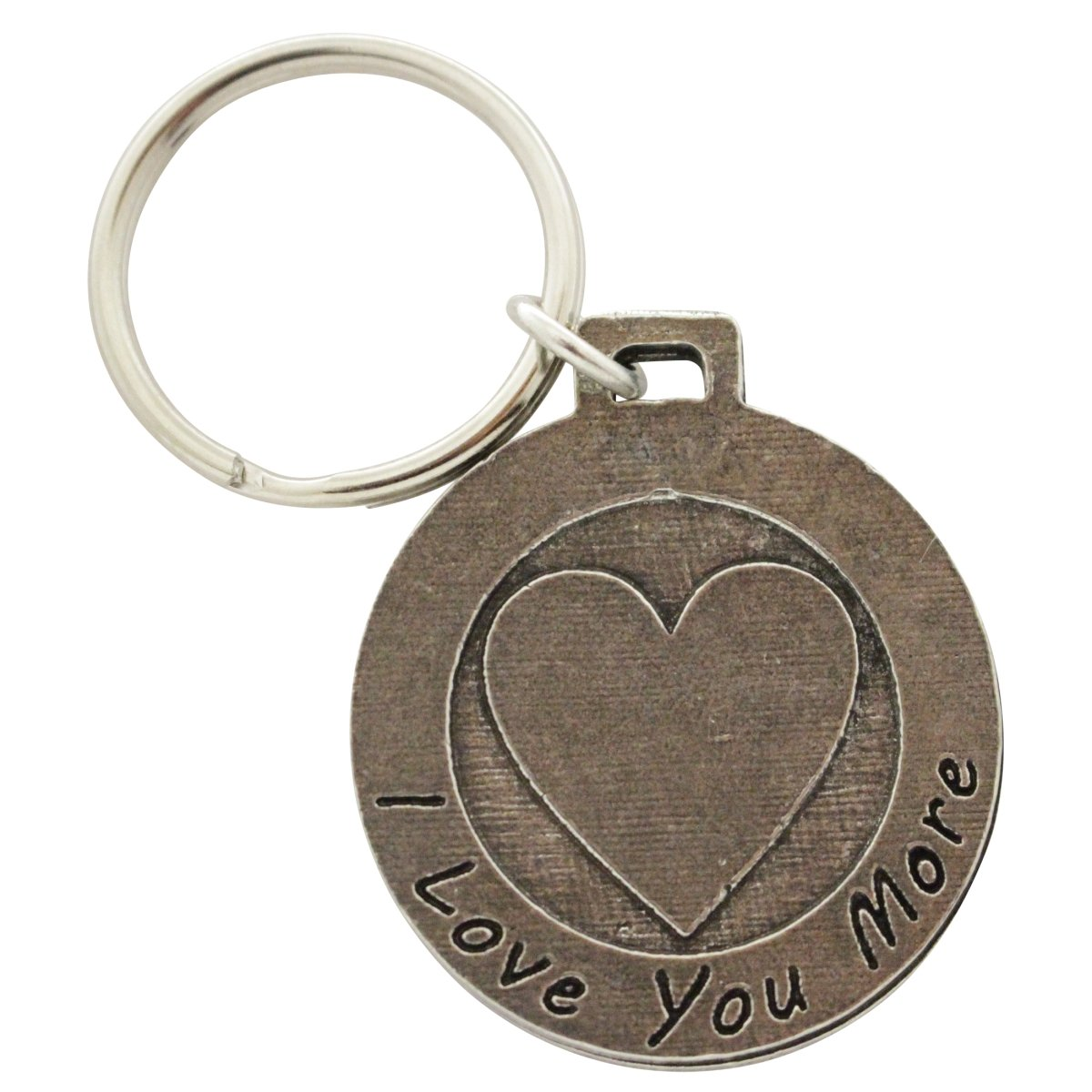 Creative Pewter Designs, Pewter I Love You More Key Chain, Antiqued Finish, A1022KC