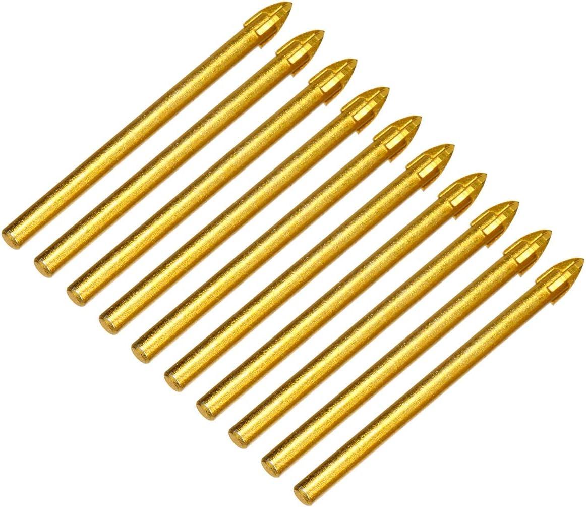 10Pcs 6mm Triangle Spear Point Head Drilling Tool Ceramic Tile Glass Drill Bits