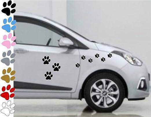 2 opinioni per AWS Stickers Set da 26 Zampe zampine cane in 7 colori a scelta auto moto