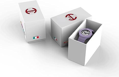 Hip Hop Watches Orologio da Donna Deep Ocean HWU0536 Collezione Solare Cinturino in Silicone Impermeabile 5 ATM Cassa 34mm Blu Scuro