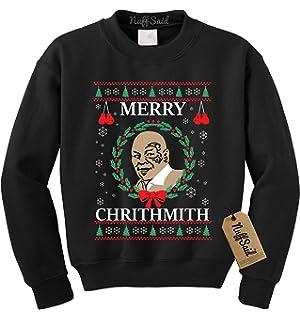 Amazoncom Ksjk Unisex Funny Print Ugly Christmas Sweater Jumper