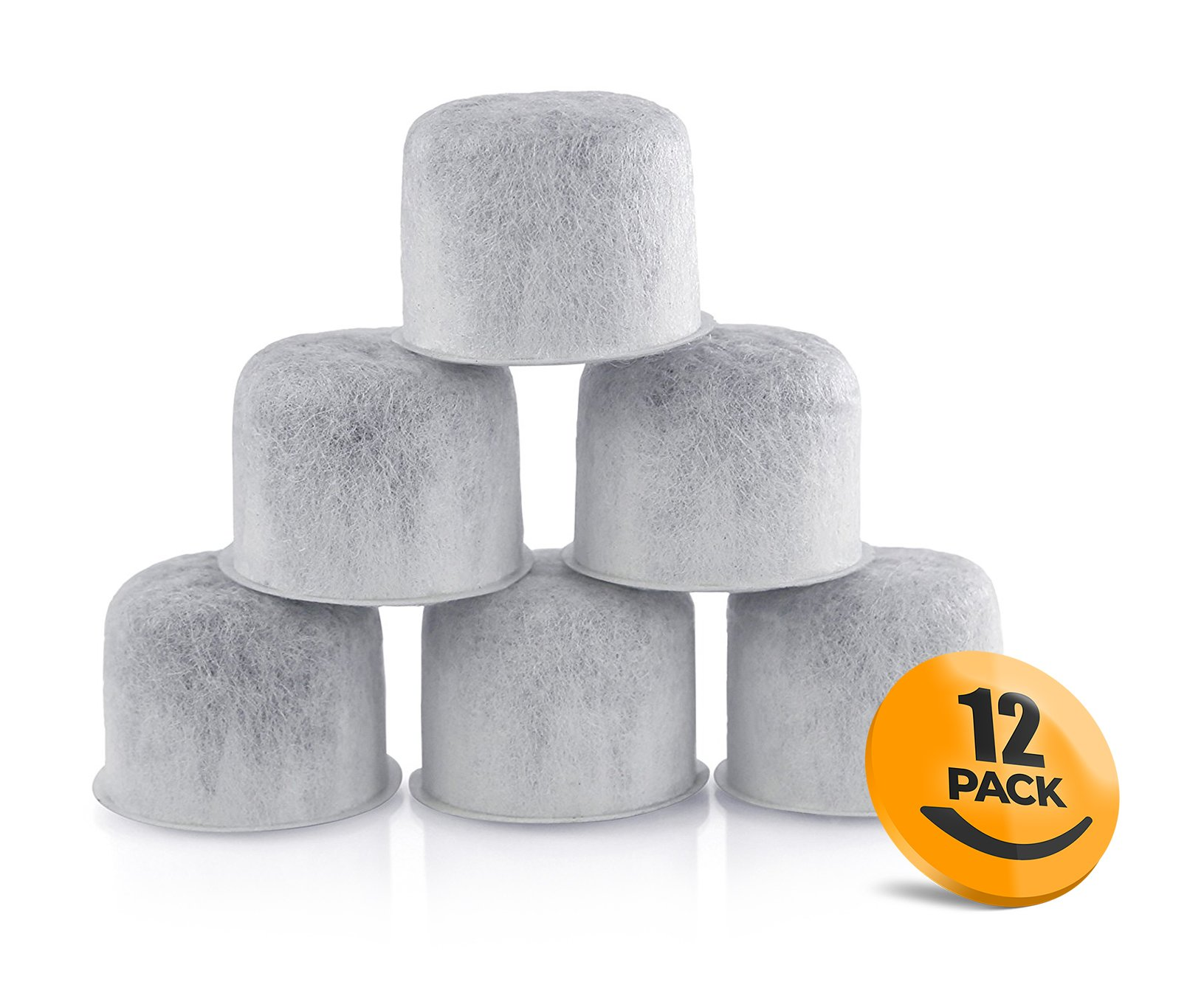 K&J 12 Pack Replacement Capresso Charcoal Water Filters - Replaces 4440.90 Coffee Filters