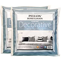 """Pellon 2DPI1818 Decorative Twin Pack Pillow Insert, 18"""" by 18"""", White"""