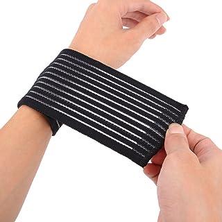 KIICN Respirant Force Fitness Coton Sport Bretelles Sangle Silicone Protecteur Bracelets Poignet Carpal Tunnel Support pour Bandage du Poignet Fitness Wraps