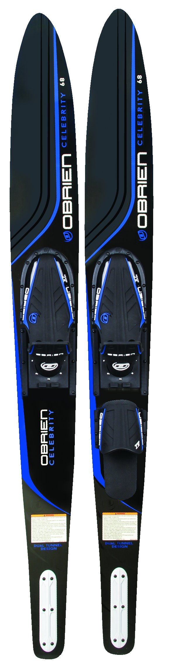 O'Brien Celebrity Combo Water Skis with x-7 Bindings, Blue, 68''