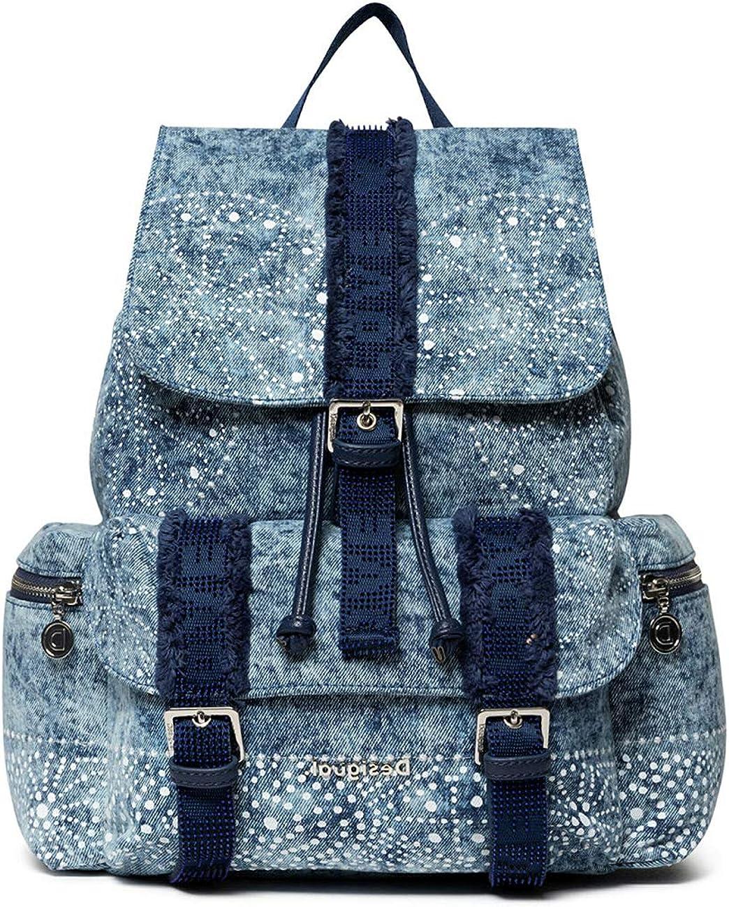 Desigual Back_Galaxy Tribeca - Bolso de mano para mujer, 15 x 36 x 29 cm, color azul marino