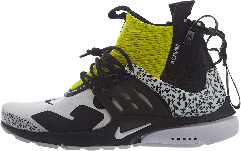 Air Presto Mid/Acronym AH7832 100 White/Black/Yellow