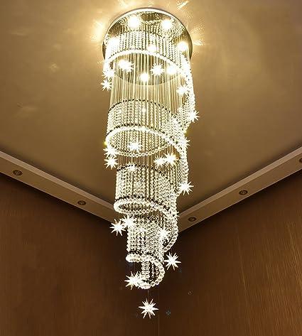 quality design ee90e 1b892 NOXARTE Modern Design Spiral Stars Crystal Chandelier LED ...