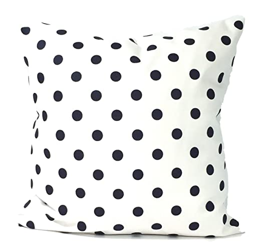 Very best Amazon.com: Navy Blue Polka Dots and White Pillow Cover. large bed  RQ96
