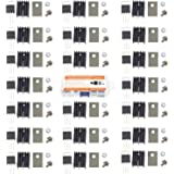 Makeronics 20 pcs IRFZ44N Insulator and Mounting kit with TO-220 Heatsink,Insulator rubberized silicone Washer and…
