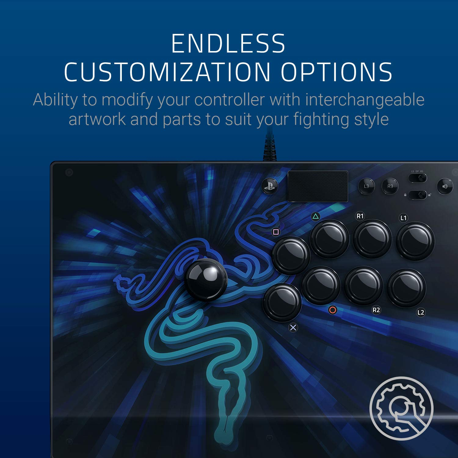 Razer Panthera Evo: Fully Mod-Capable - Sanwa Joystick and Buttons -  Internal Storage Compartment - Tournament Arcade Stick for PS4