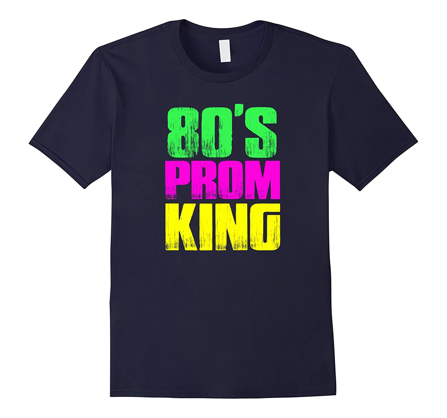 Mens Mens 80s Prom King Eighties Neon Party Shirt Costume Td Teedep
