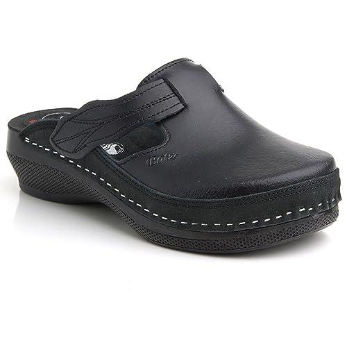 c71001c1aa6bc BATZ Flower Handmade Leather Womens Ladies Slip-on Clogs Mules