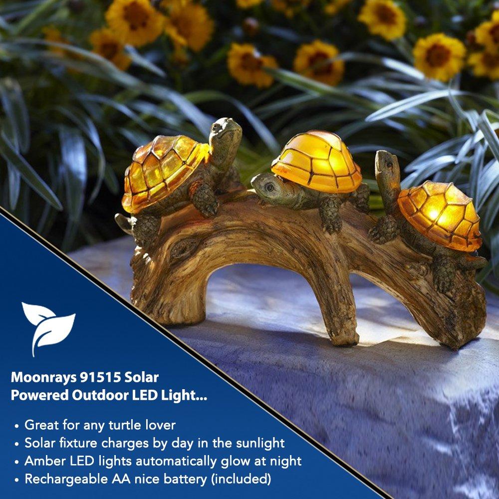 Attrayant Moonrays 91515 Solar Powered Outdoor LED Light Garden Décor, Turtles On A  Log   Outdoor Figurine Lights   Amazon.com