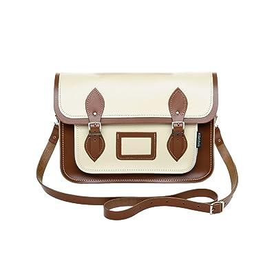 d9107d8745cc Zatchels Womens/Ladies Handcrafted Two Tone Leather Satchel Bag ...