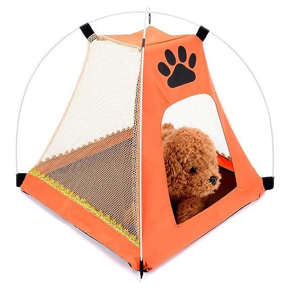 Selmai Petit Chien Tente Portable Pliable en maille Tissu Oxford Pare-soleil  Patte de Chien Forme Maison de tente Pop Up pour plage Camping pique-nique  ... bd32cb5587d2