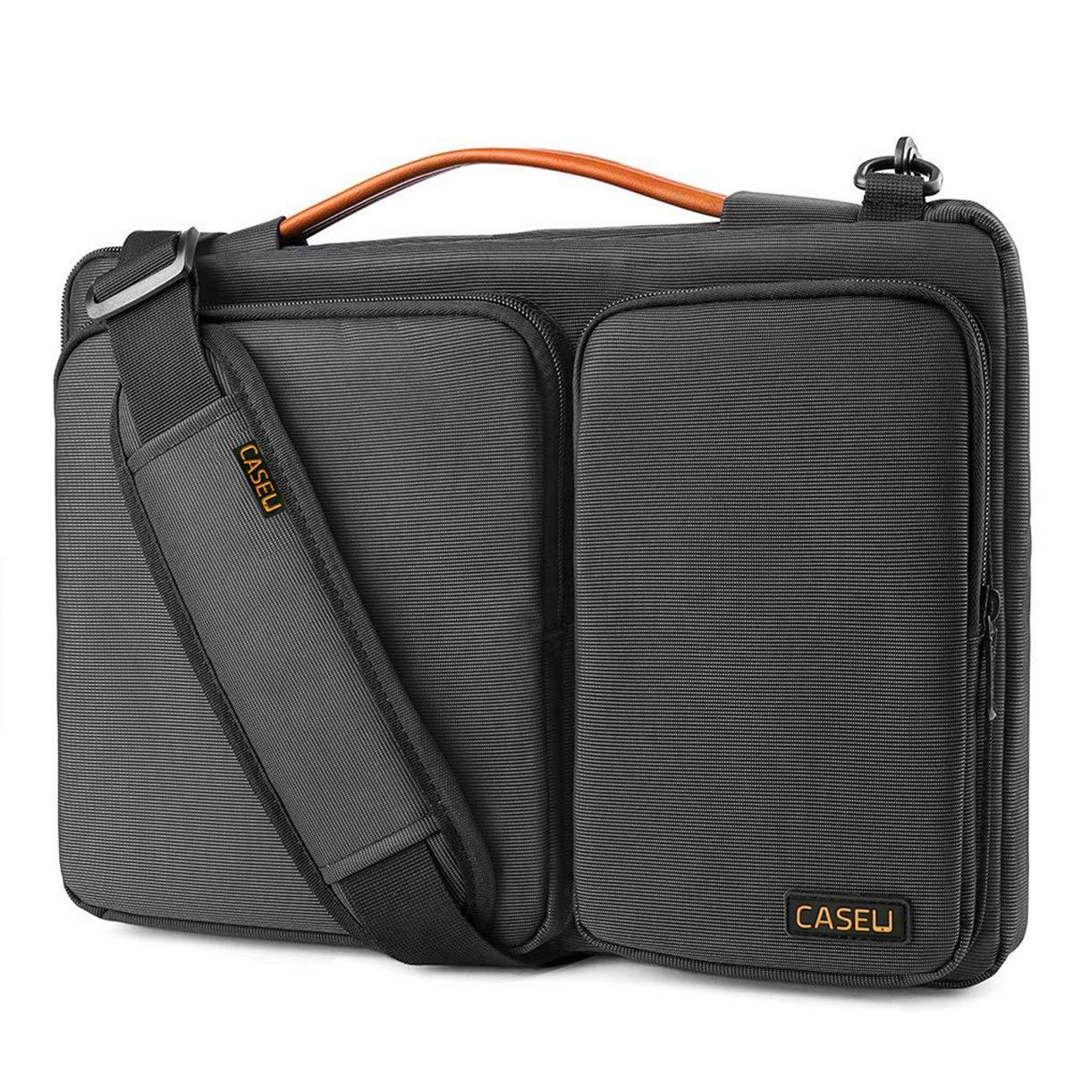 CASE U Polyester 13.3-inch 360 Degree Protective Laptop Bag (Black)