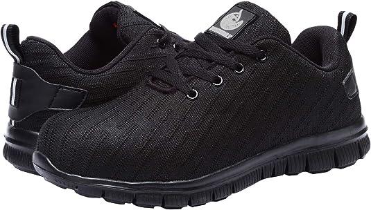 Zapatillas de Seguridad Hombre,Trabajo con Puntera de Acero Transpirable Reflectante Botas de Seguridad: Amazon.es: Zapatos y complementos